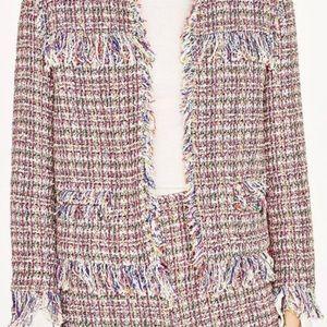 Zara Multicolor Tweed Jacket size XS